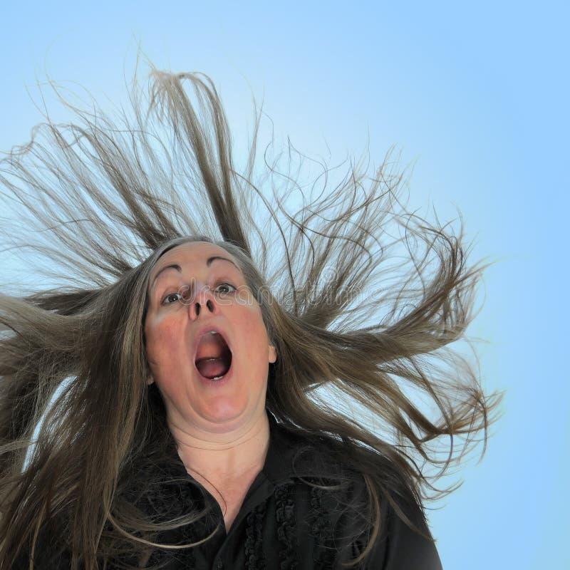 Mulher Shouting foto de stock