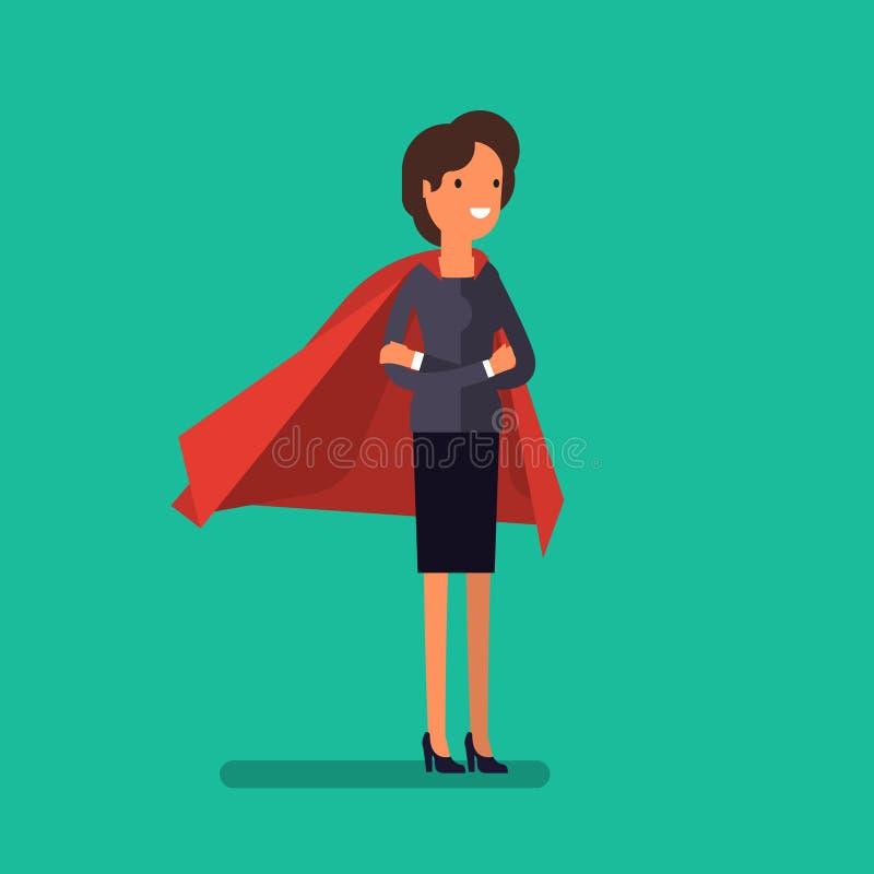 Mulher super Ilustração do conceito do negócio ilustração do vetor