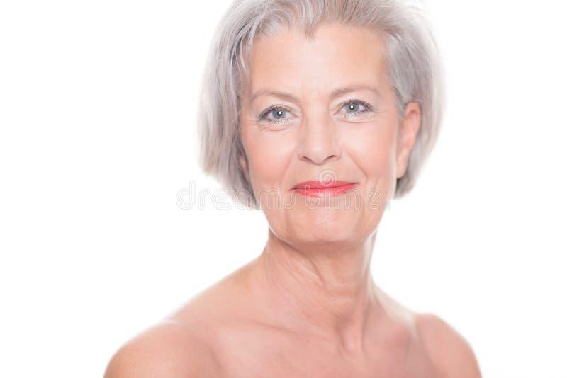 Mulher superior imagem de stock royalty free