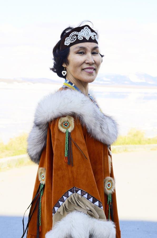 Mulher superior de Chukchi fotos de stock
