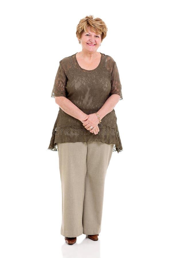 Mulher superior feliz foto de stock royalty free