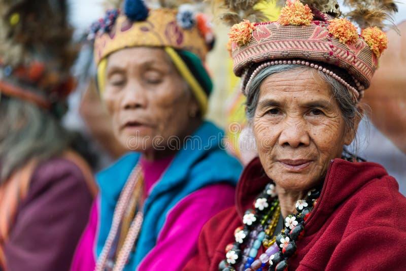 Mulher superior filipina do tribo de Ifugao foto de stock