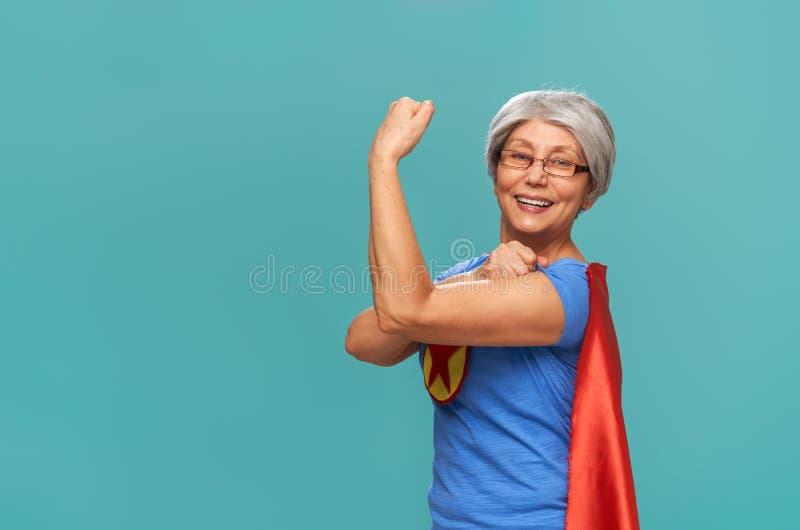 Mulher superior no fundo da cerceta foto de stock royalty free