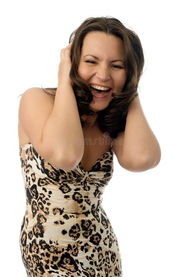 Mulher surpreendida feliz fotos de stock royalty free