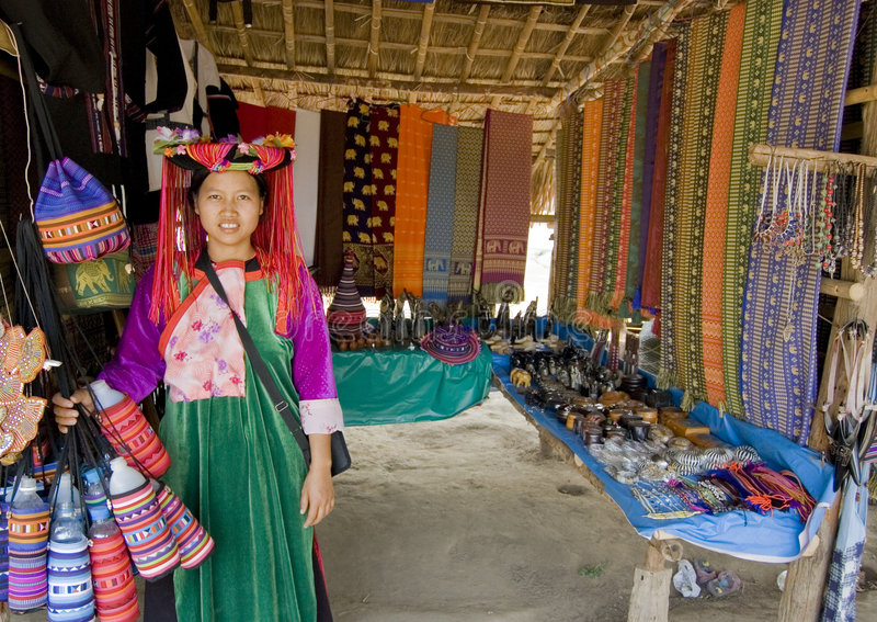 Mulher tailandesa do tribo imagens de stock royalty free
