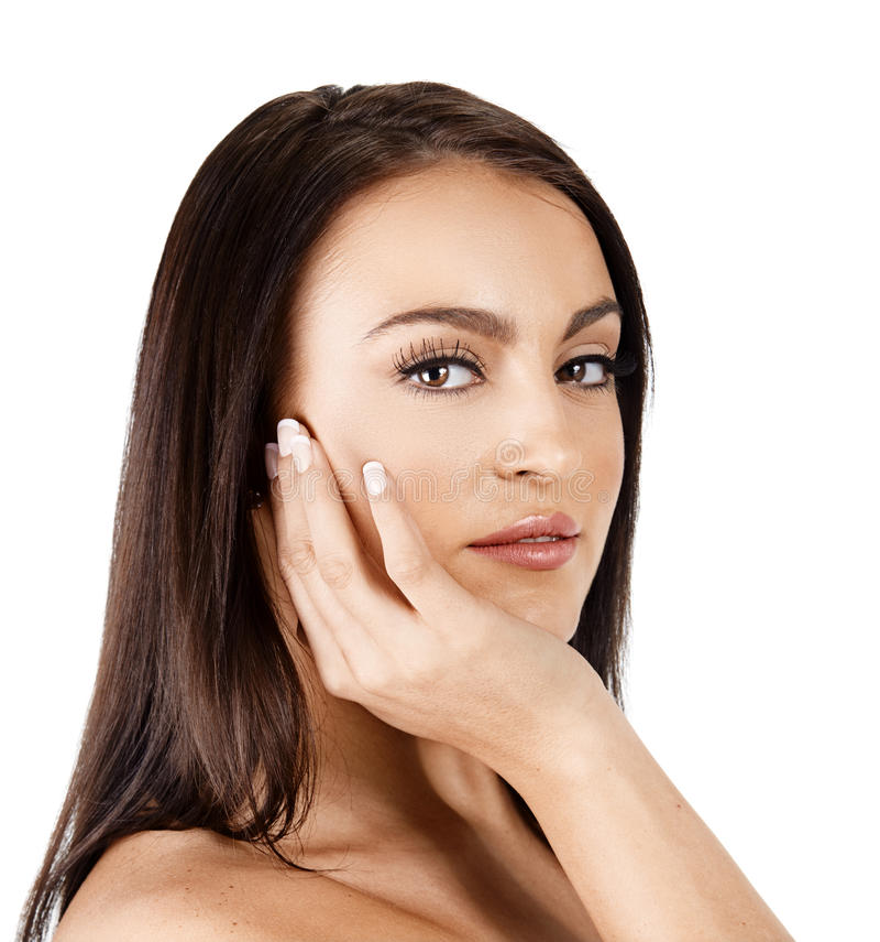 Mulher tanned bonita imagem de stock royalty free