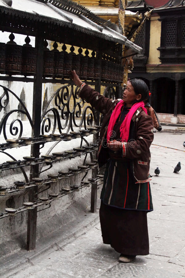 Mulher tibetana fotos de stock royalty free