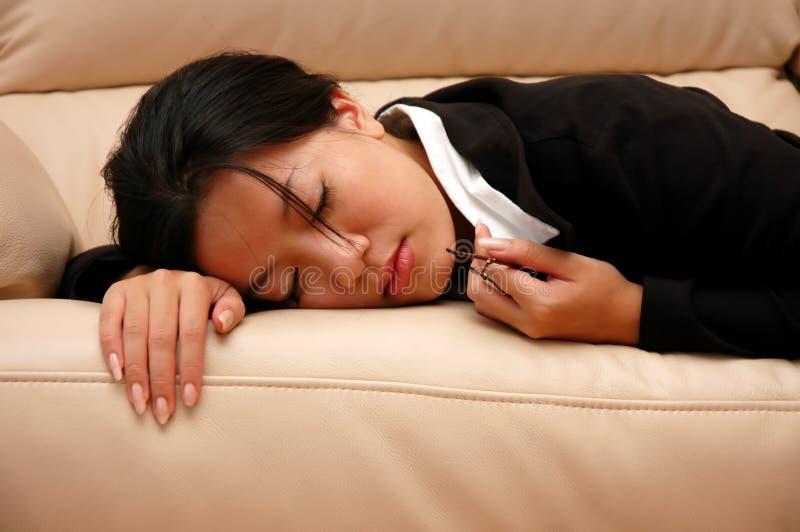 Mulher Tired fotos de stock