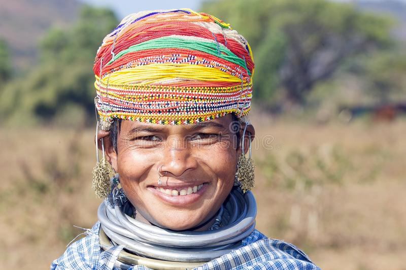 Mulher tribal de Bonda fotos de stock royalty free
