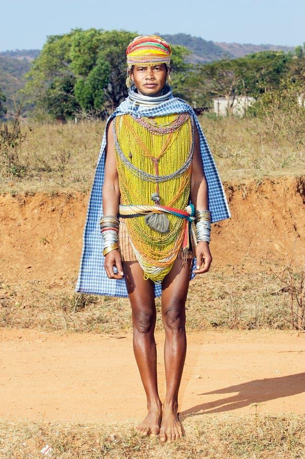 Mulher tribal de Bonda fotos de stock