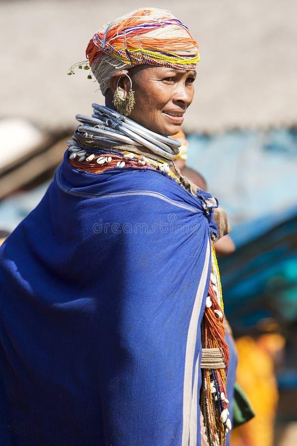 Mulher tribal de Bonda foto de stock royalty free
