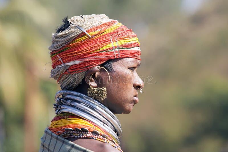Mulher tribal de Bonda fotografia de stock