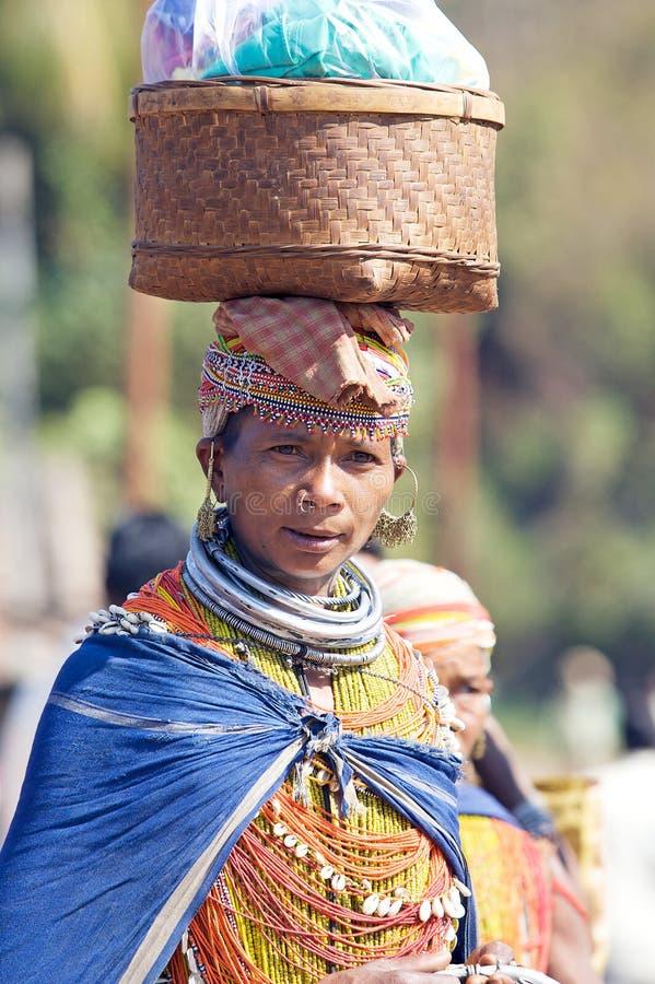 Mulher tribal de Bonda imagem de stock royalty free