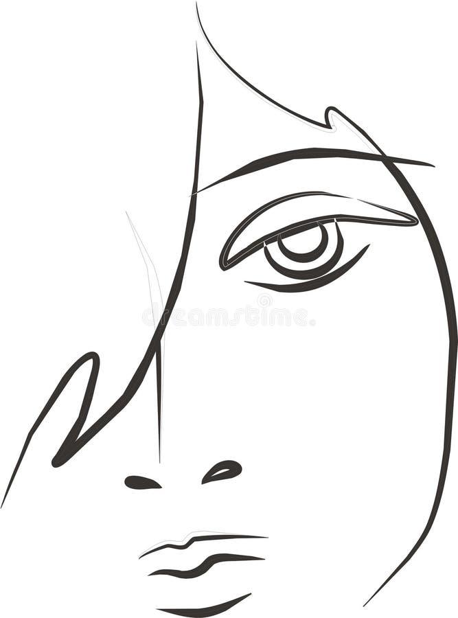 Mulher triste ilustração stock