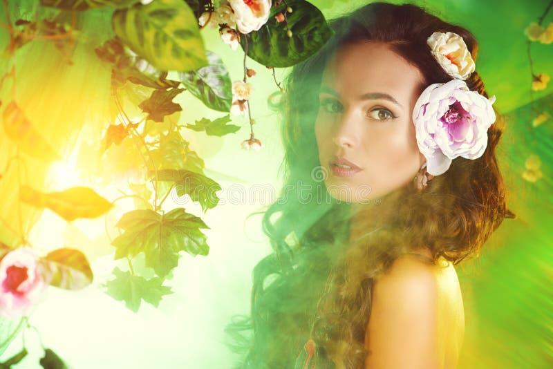 Mulher tropical fotografia de stock