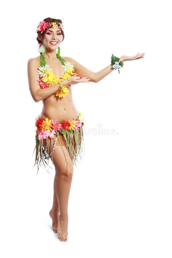 Mulher tropical fotografia de stock royalty free