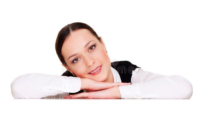 Mulher vívida sobre o fundo branco fotografia de stock