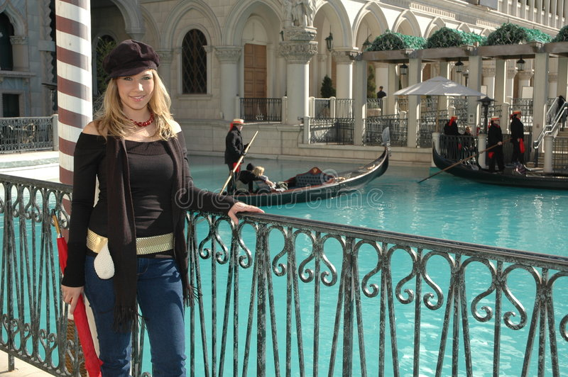 Mulher Venetian fotografia de stock