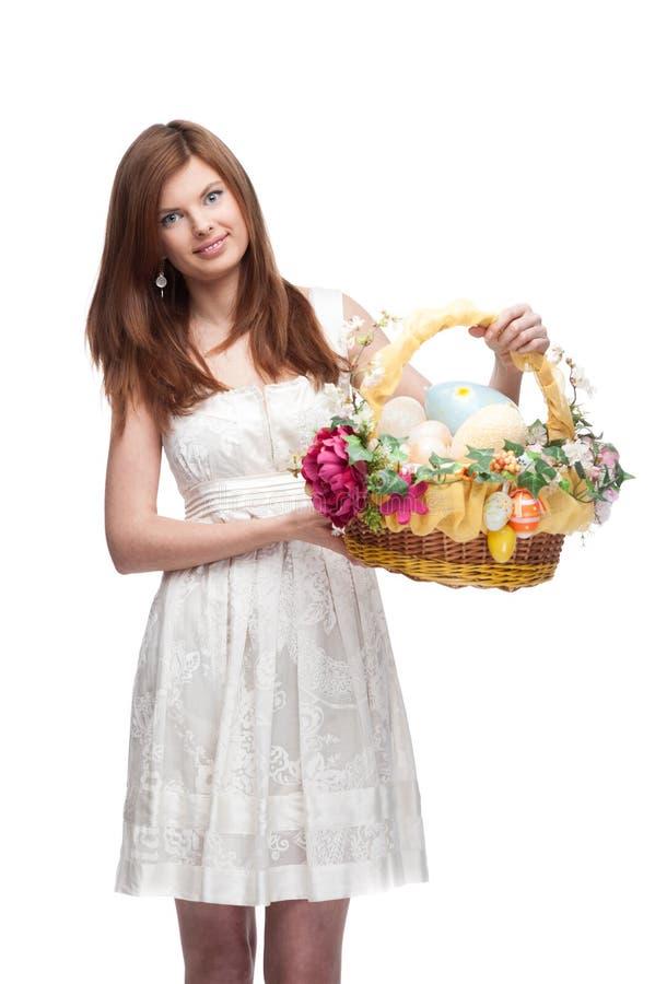Menina festiva engraçada foto de stock