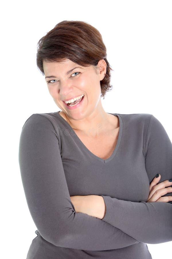 Mulher vivacious de riso fotos de stock