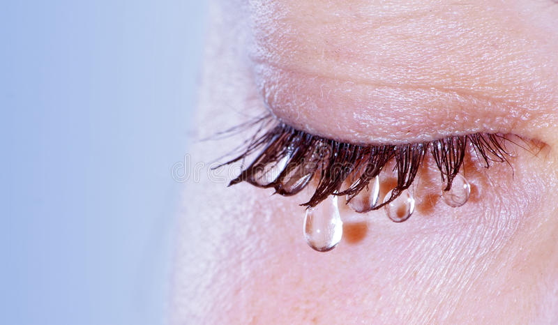 Mulher Weeping fotos de stock