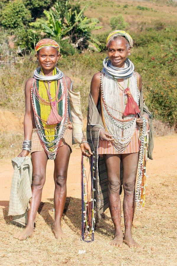 Mulheres adultas tribais de Bonda foto de stock royalty free