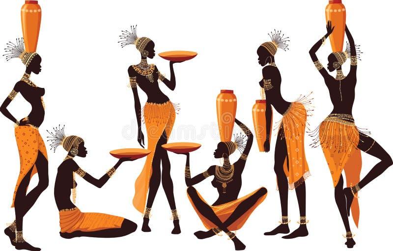 Mulheres africanas ilustração do vetor
