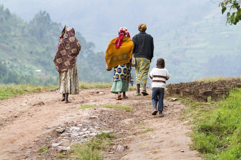 Mulheres africanas - Ruanda fotografia de stock