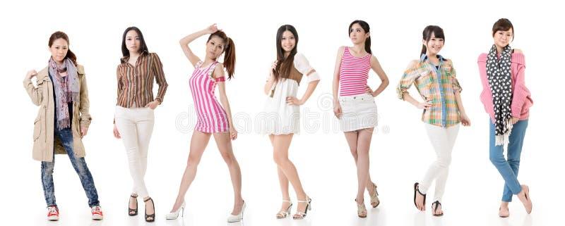 Mulheres asiáticas fotografia de stock