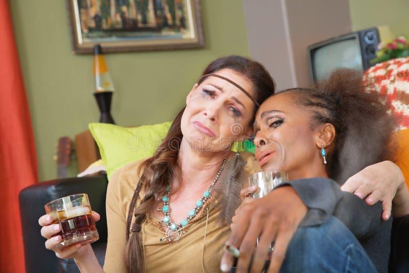 Mulheres bêbadas dos anos 60 foto de stock