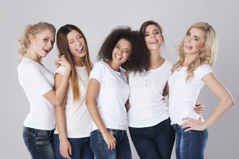Mulheres bonitas e loucas foto de stock royalty free