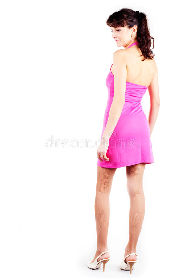 Mulheres bonitas no vestido curto imagem de stock
