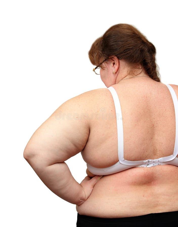 Mulheres com excesso de peso de atrás imagens de stock
