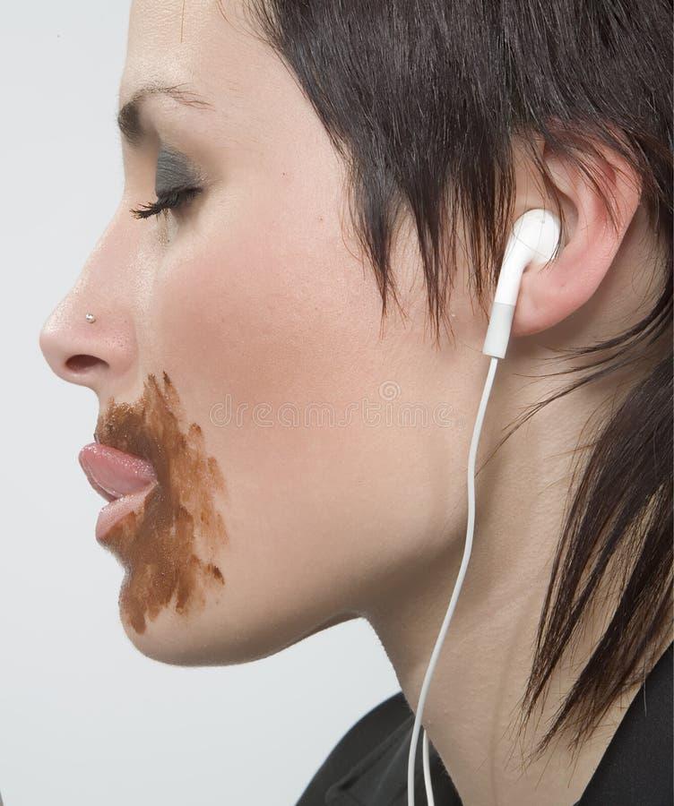 Mulheres com MP3 foto de stock royalty free
