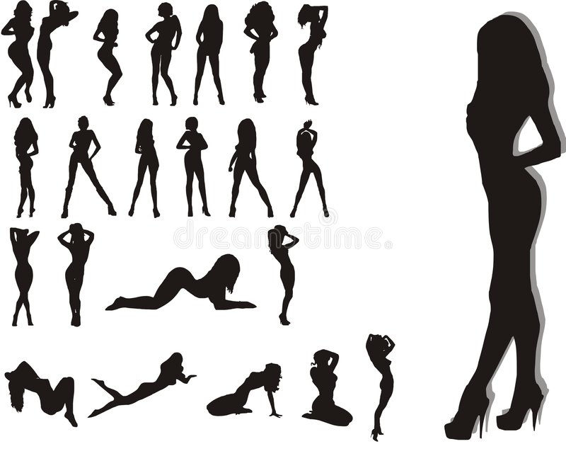Mulheres da beleza ilustração stock