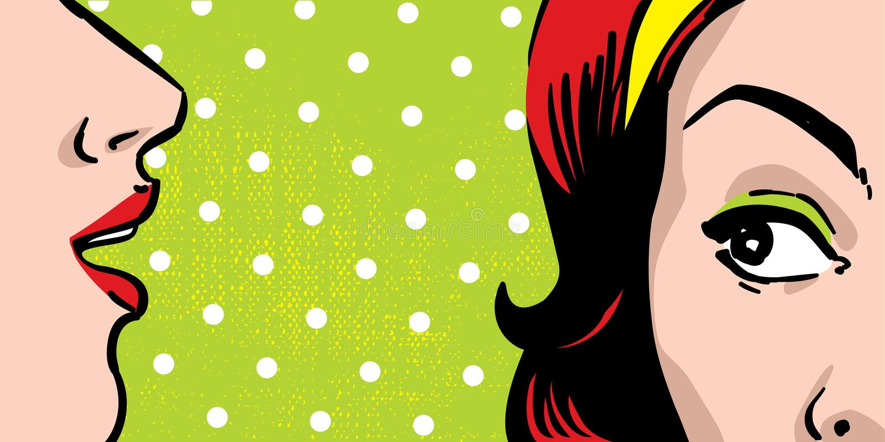 Mulheres da bisbilhotice ilustração royalty free