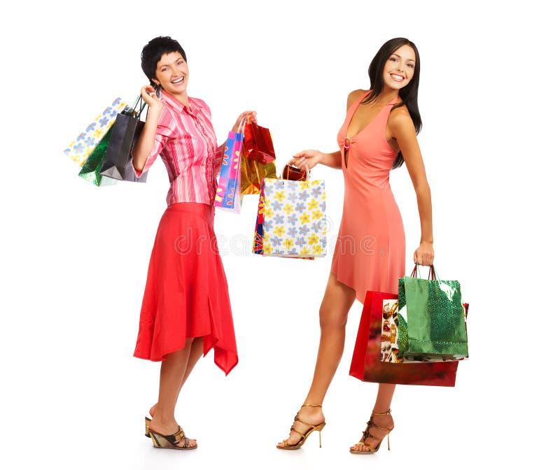 Mulheres da compra fotografia de stock royalty free