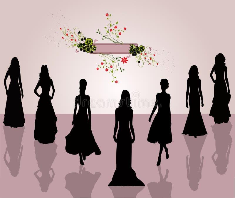 Mulheres da forma do estilo - vetor ilustração do vetor