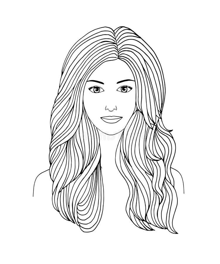 Mulheres de cabelos compridos
