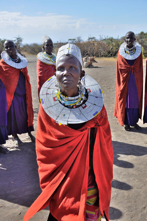Mulheres de Maasai fotografia de stock