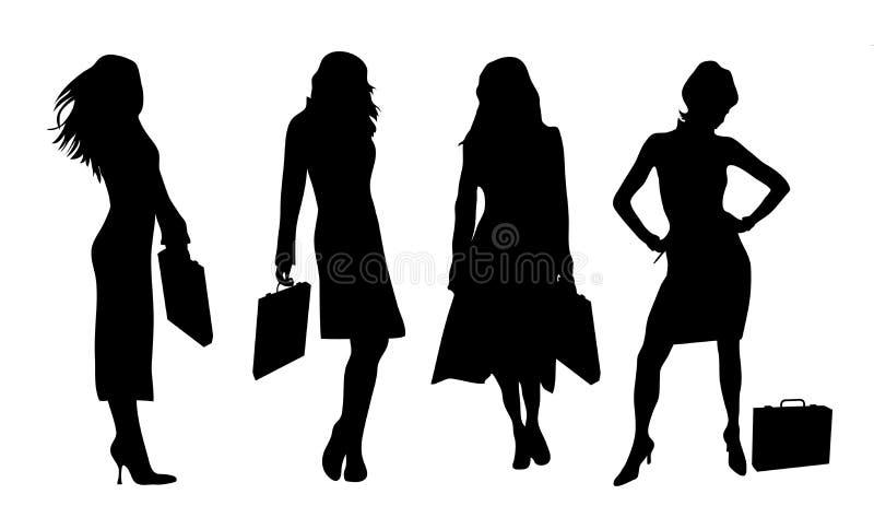 Mulheres de negócio ilustração royalty free