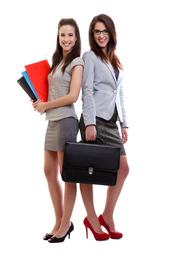 Mulheres de negócio bonitos felizes foto de stock