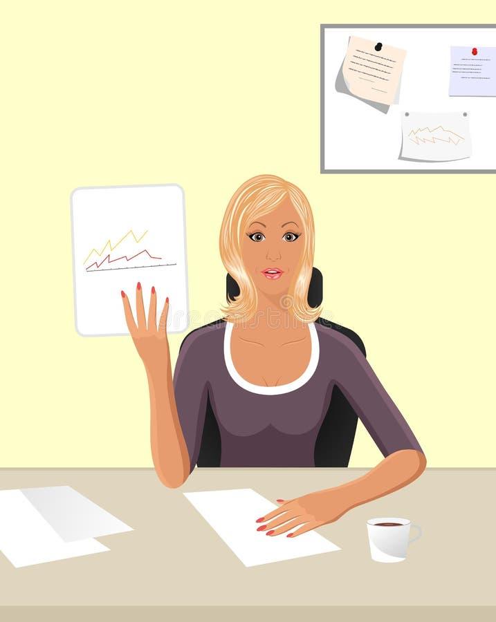 Mulheres de negócio com originais ilustração do vetor