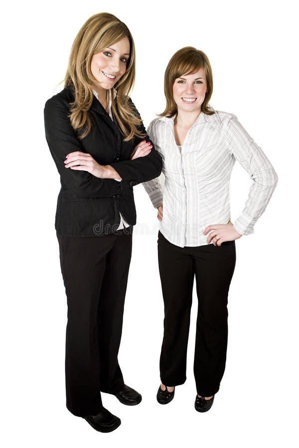 Mulheres de negócio isoladas no fundo branco fotografia de stock