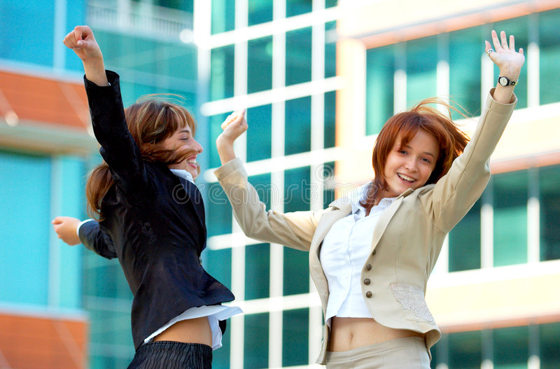 Mulheres de negócios bem sucedidas fotografia de stock