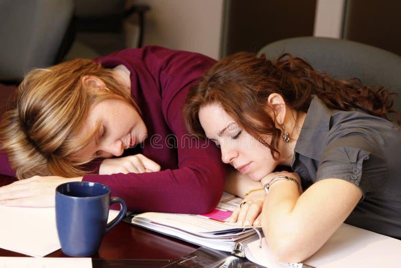Mulheres de negócios de sono fotografia de stock