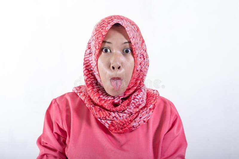 Mulheres de neg?cios mu?ulmanas asi?ticas que vestem o hijab imagens de stock