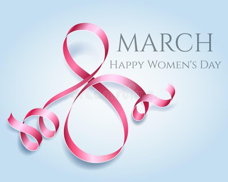 Mulheres dia elemento do 8 de março ilustração royalty free