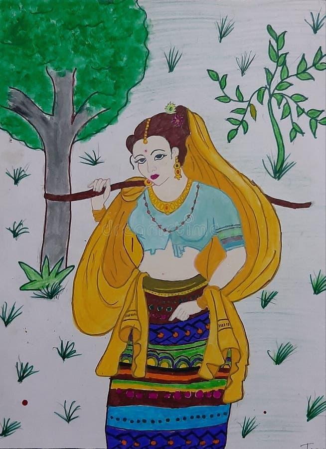 Mulheres do aldeão de Gadariya fotografia de stock royalty free