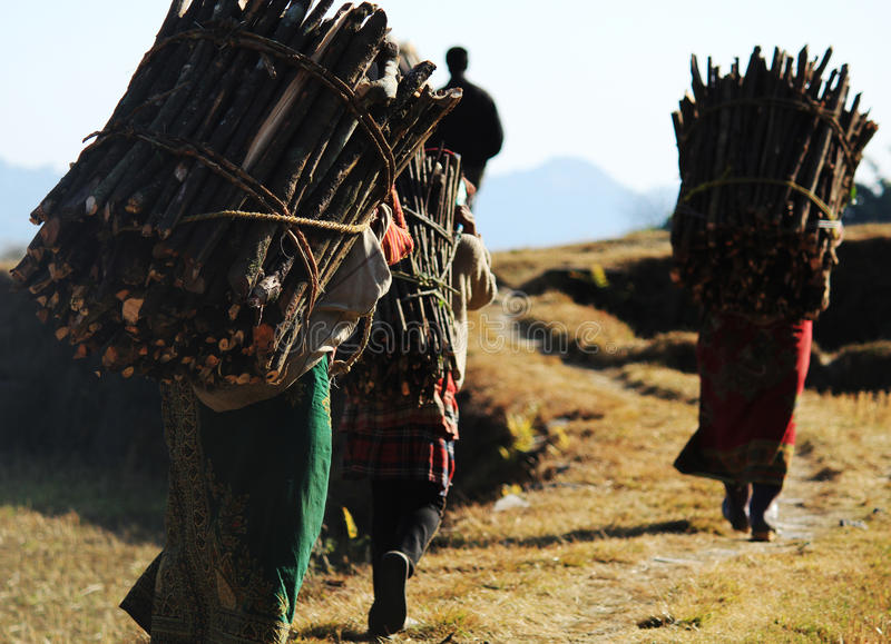 Mulheres do aldeão do Nepali fotografia de stock royalty free